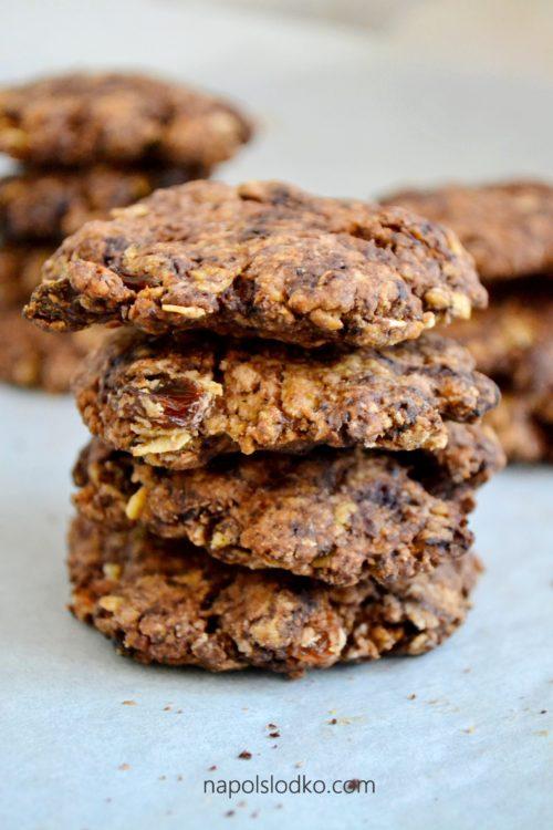 Kakaowe ciasteczka owsiane bez dodatku cukru