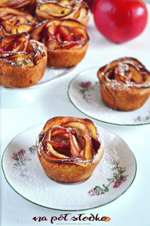 Róże jabłkowe bez cukru z mąki razowe