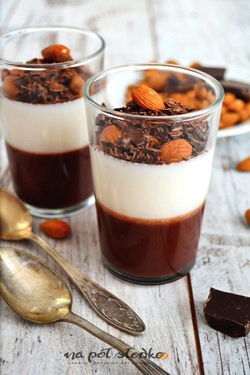 Deser czekoladowy bez cukru i mlekalogo