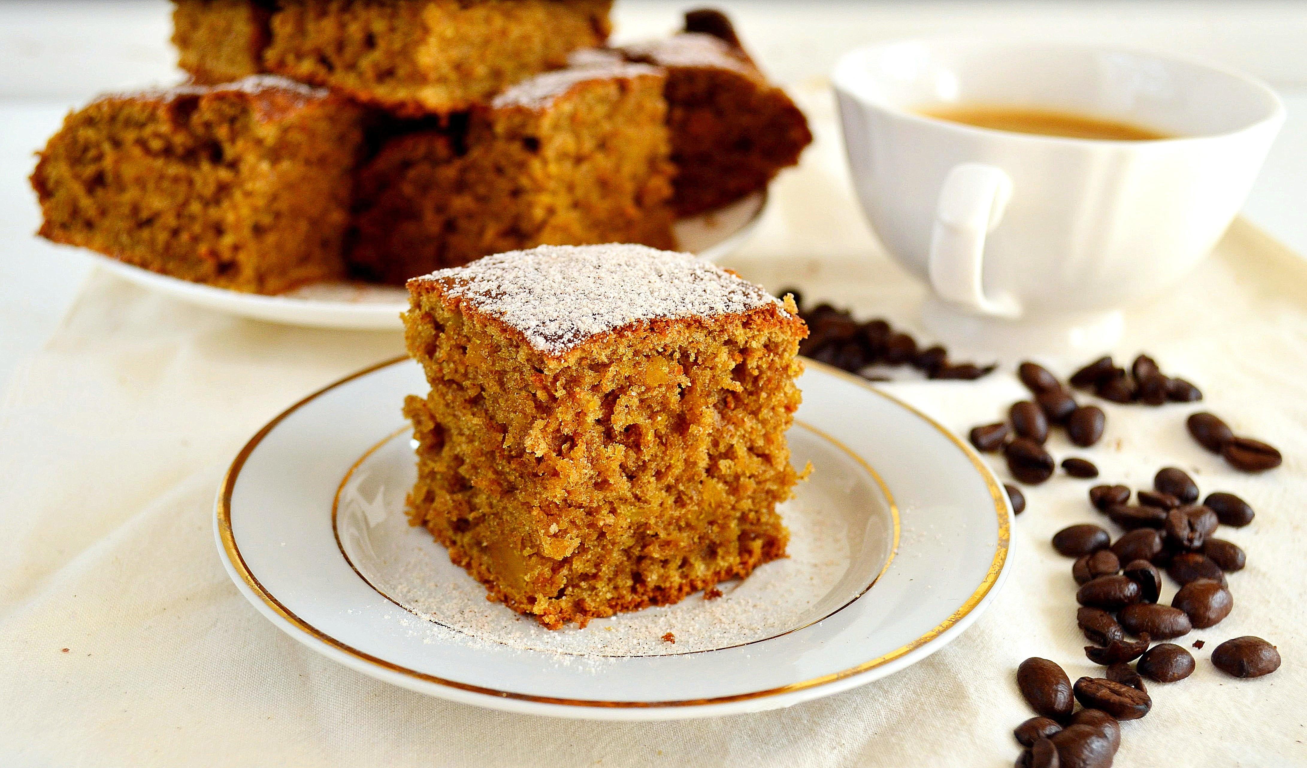Ciasto dyniowo-kawowe bez cukru i mleka