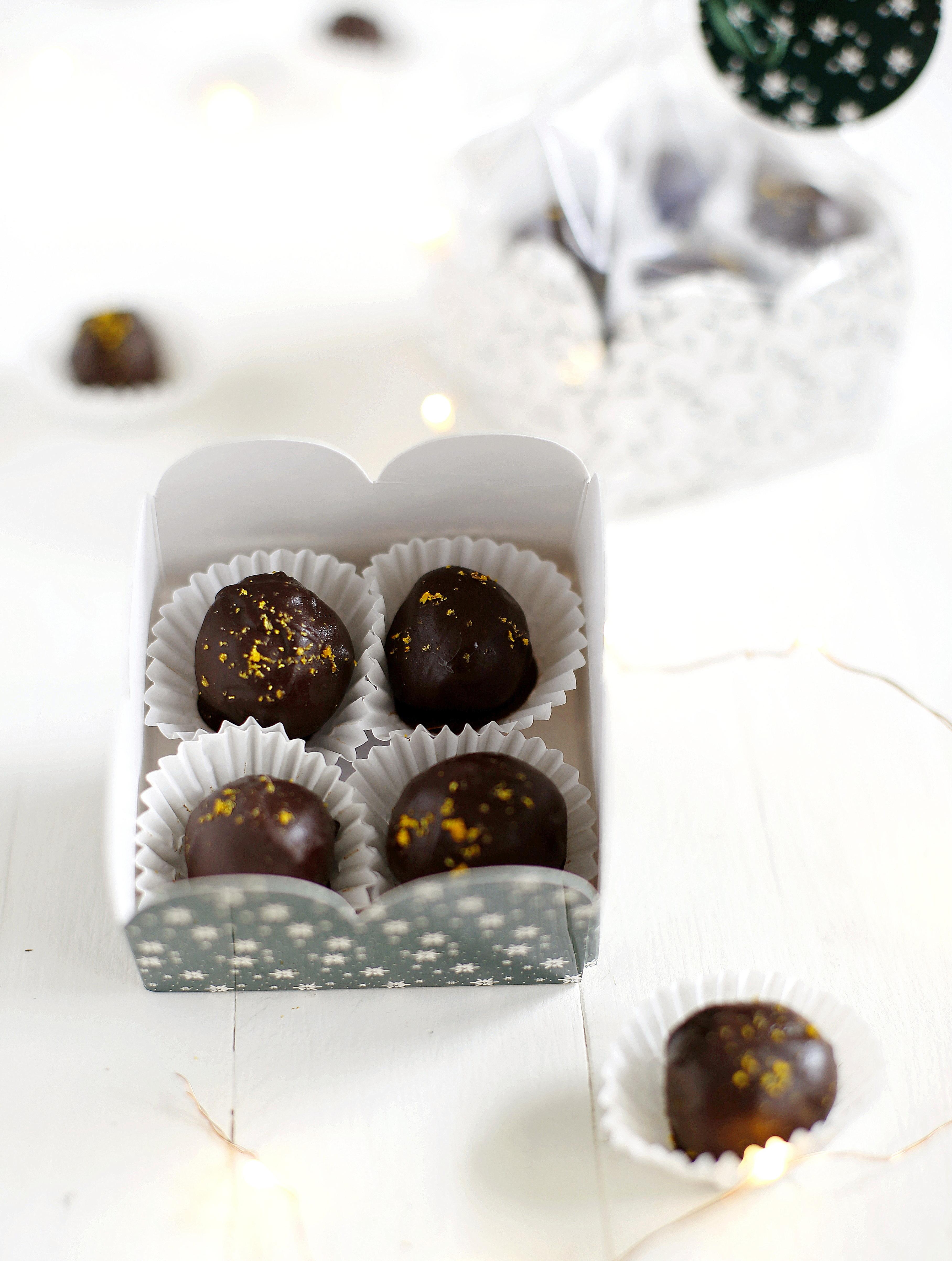 Trufle czekoladowe z masłem orzechowym