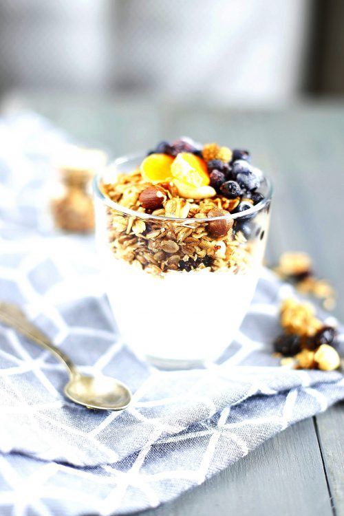 Fit korzenna granola bez cukru (wegańska)
